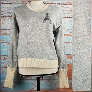 J. Crew sweater tip sweatshirt sz M eiffel tower
